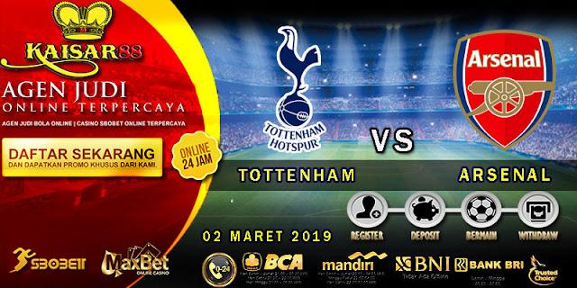 PREDIKSI BOLA TERPERCAYA TOTTENHAM HOTSPUR VS ARSENAL 02 MARET 2019