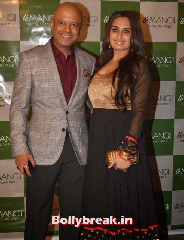 Naved Jaffery with wife, Page 3 Celebs at 'Le Mangii' Launch Party