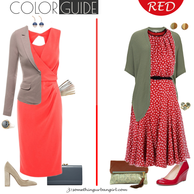 Chic red dresses for Soft Autumn seasonal color women by 30somethingurbangirl.com