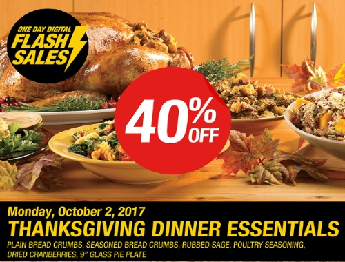 Bulk Barn Flash Sale 40% off Thanksgiving Dinner Essentials Coupon