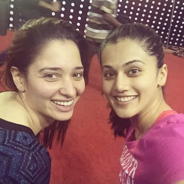 Tamanna Bhatia Instagram Photo with Taapsee Pannu