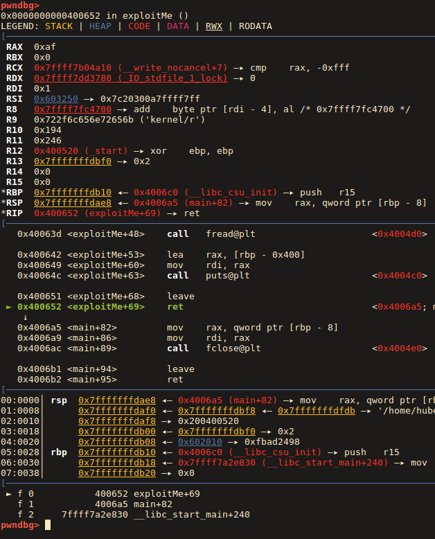 Part 2 | Stack-based Buffer Overflow exploitation to shell