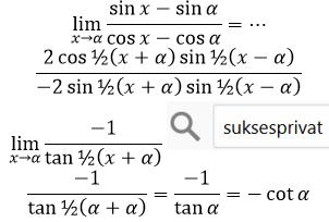 soal limit trigonometri cepat