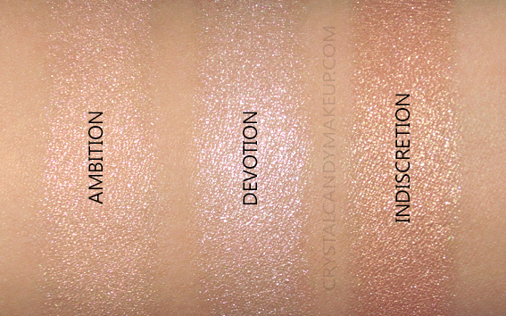 Laura Mercier Mood Glow Face Illuminator Trio Swatches