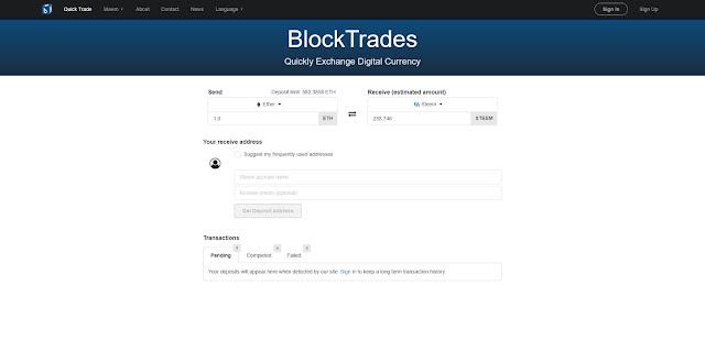 Blocktrades.us Handelsbörse
