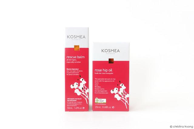 Kosmea Rescue Range Skincare Review featuring Kosmea Rescue Balm and Rosehip Oil.