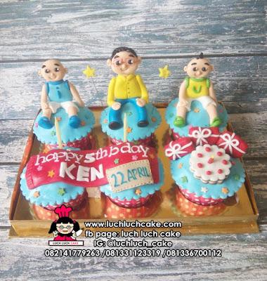 Birthday Cupcake Upin dan Ipin