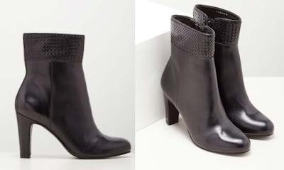Botines de piel color negro de marca San Marina en oferta