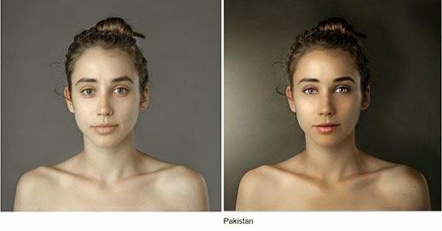 hasil photoshop wanita pakistan