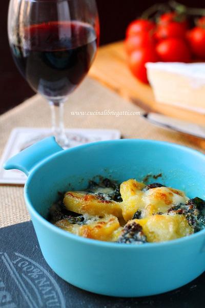 gratin patate spinaci camembert