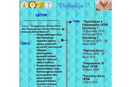 Lomba Karya Tulis Ilmiah Phytoplasm XI 2019 Mahasiswa