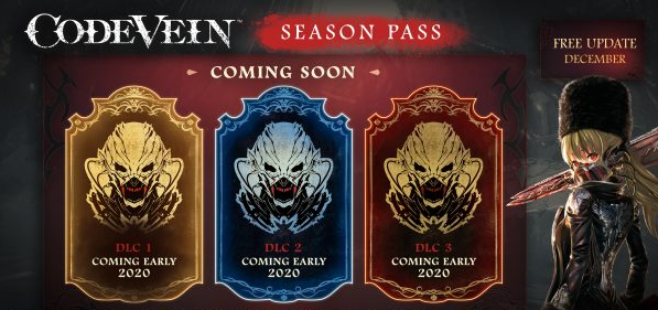 Code Vein Season Pass DLCs Coming in Early 2020