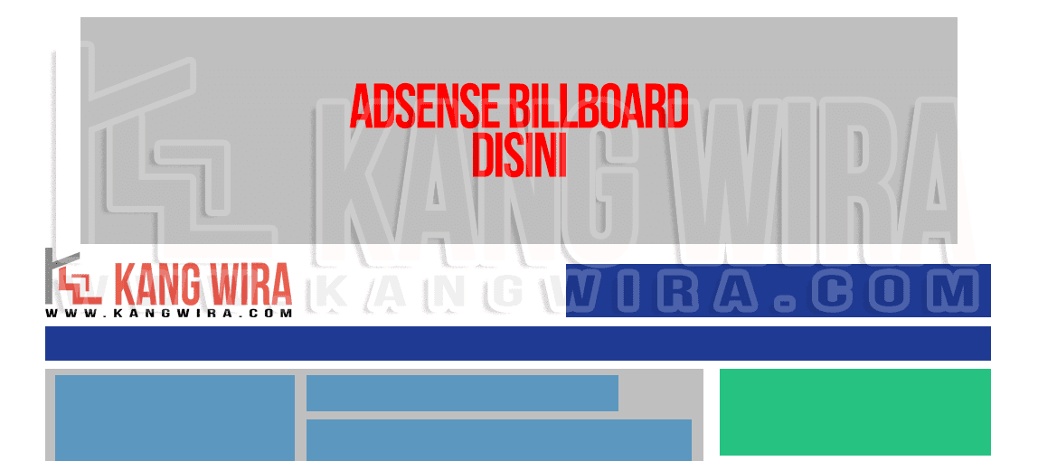 Billboard Banner diatas Header Blog