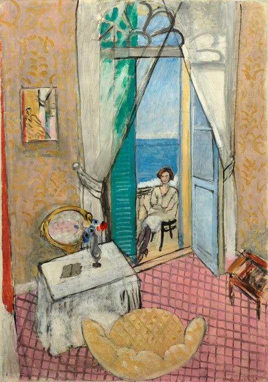 Interior em Nice - Pinturas de Matisse, Henri - (Fauvismo) Francês