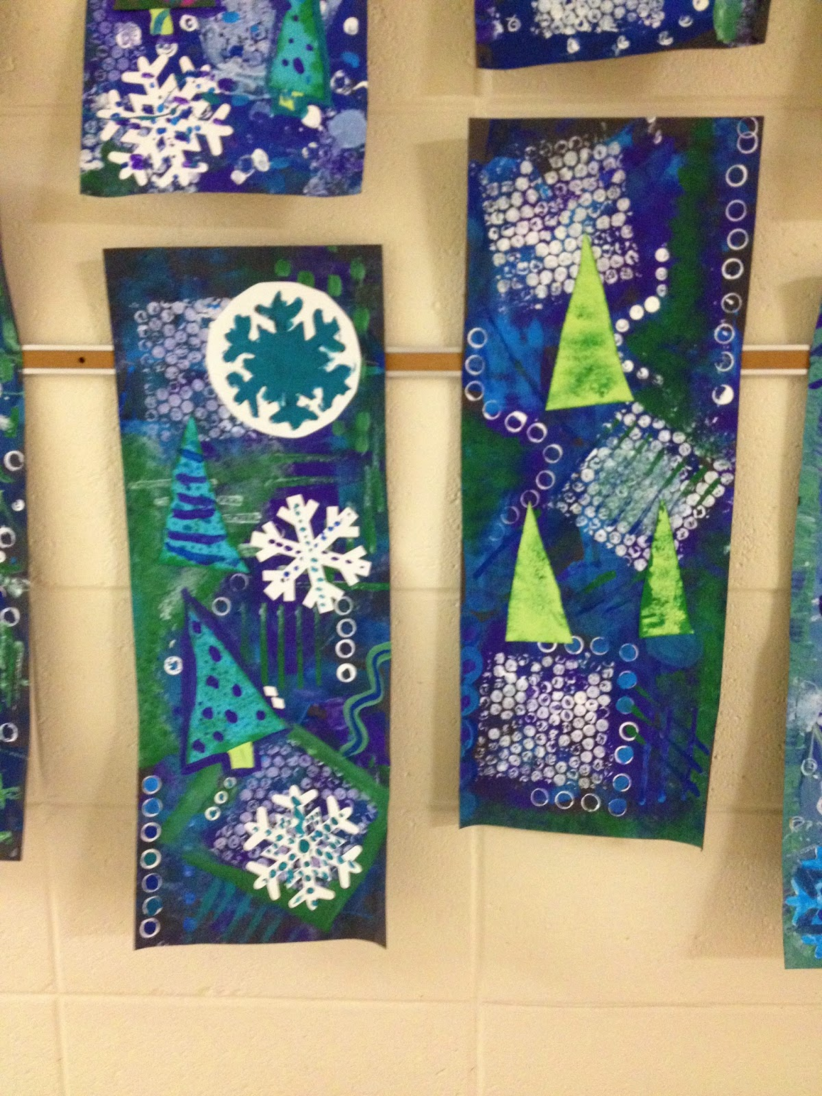 What S Happening In The Art Room 5th Grade Winter Collages