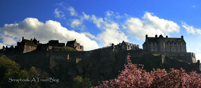 Edinburgh Castle as seen from Princess Street