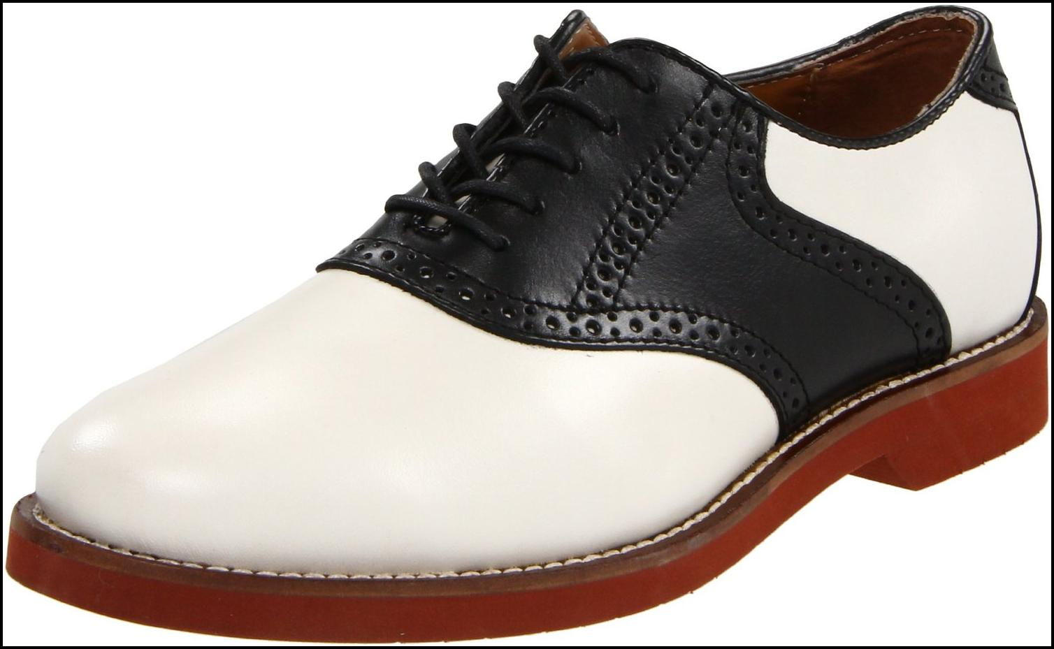 Bass Black And White Saddle Shoes