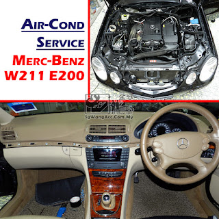 Mercedes-Benz W211 E200 Full Air Cond Service & Replacing Cooling Coil
