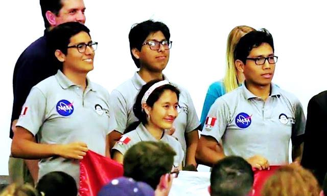 Alumnos de laUNI lograron el primer puesto en el concurso de la NASA en la Categoría AIAA Telemetry/Electronics Award