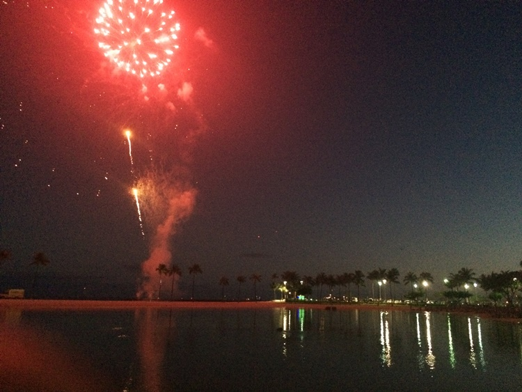 Fireworks over the lagoon