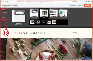 Select blog theme and colour