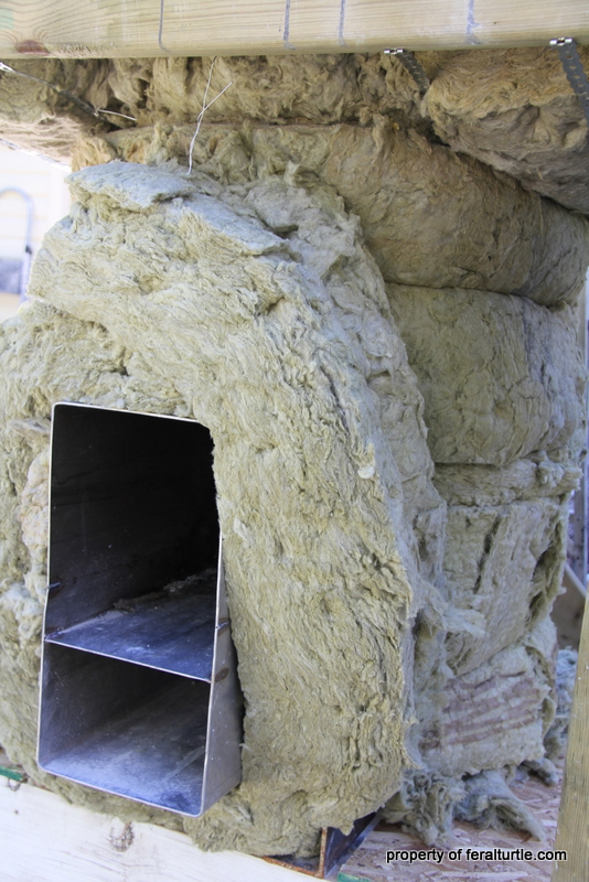 Rocket Stove Insulation : The feral turtle rocket stove pizza oven part