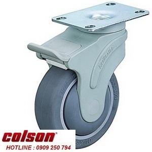 Bánh xe 150 cao su xoay mặt đế có khóa Colson | STO-6856-448BRK4 www.banhxedayhang.net