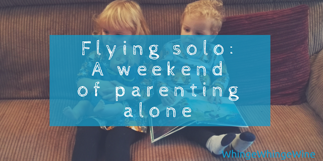 Flying solo: One weekend of parenting alone