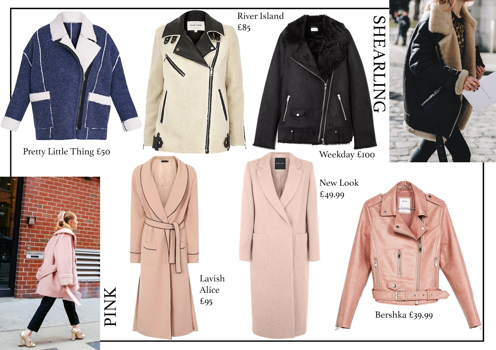 fashion, aw16, coat guide, leopard, faux fur, shearling, pink, military, puffa, fashion blog,