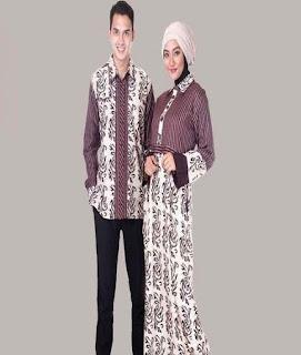 baju batik muslim couple lengan panjang
