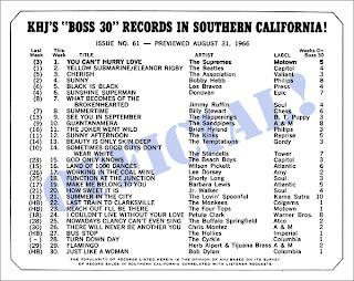KHJ Boss 30 No. 61 - August 31, 1966