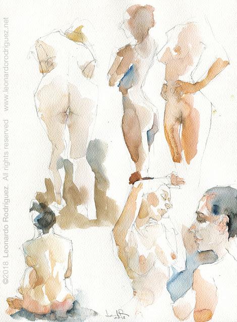 Watercolor-artist-in-Barcelona-leonardo-rodriguez