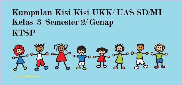Download dan dapatkan kisi kisi ukk/ uas genap kelas 3 SD/ MI mapel pai, pkn, b indonesia, matematika, ipa, ips, b sunda sesuai ktsp th. ajaran 2016 2017