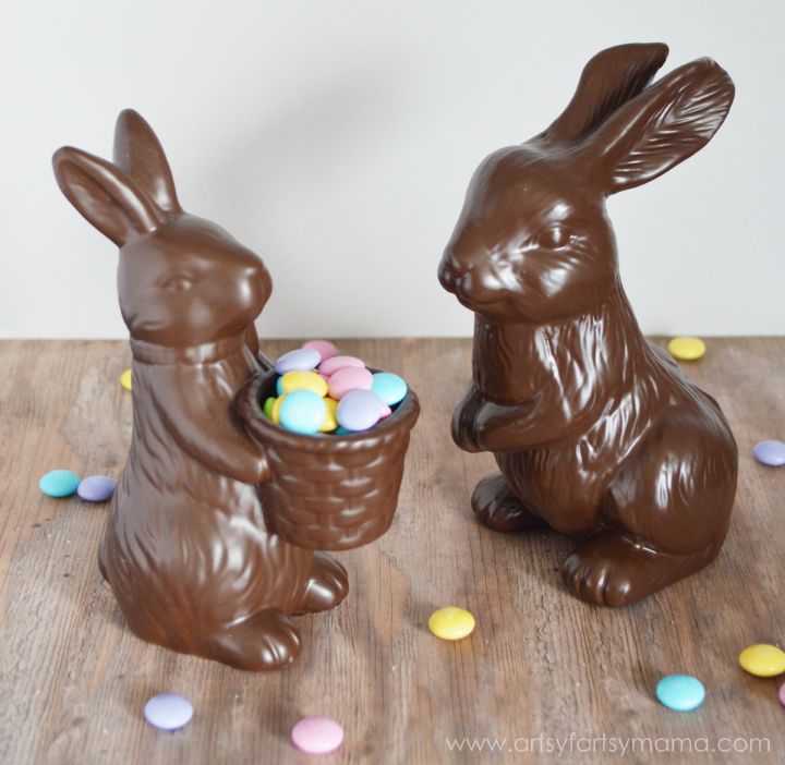 Faux Chocolate Easter Bunnies at artsyfartsymama.com