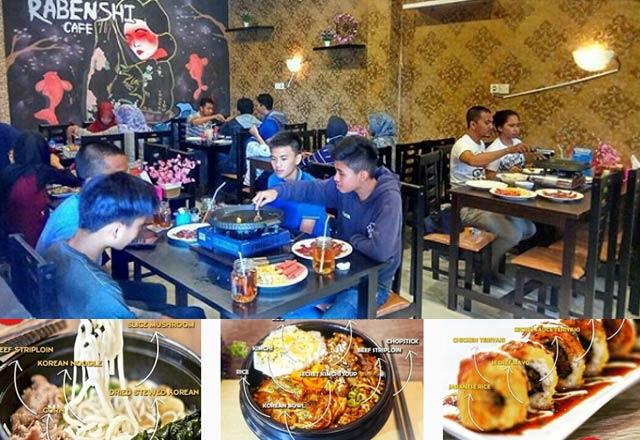 Tak hanya kuliner daerah, kuliner mancanegara yang halal juga ada di Banjarbaru. Sebuah cafe modern menyuguhkan menu spesial kuliner Jepang dan Korea telah hadir di Banjarbaru.