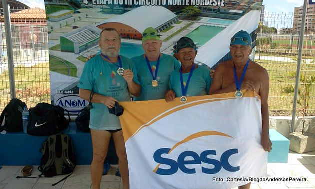 Esporte: Atletas representam Goiana no Campeonato Norte Nordeste de Natação Master, em João Pessoa