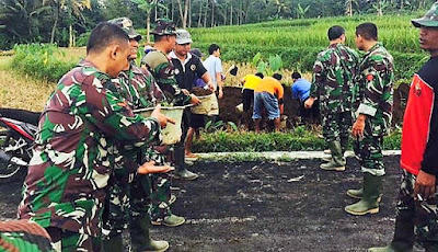 Semangat Warga dan TNI Terus Membara di Lokasi TMMD