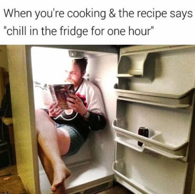 book funny, funny places to read, reading meme, cooking meme