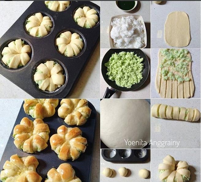Resep Roti Manis Isi Kelapa Pandan Baca Resep