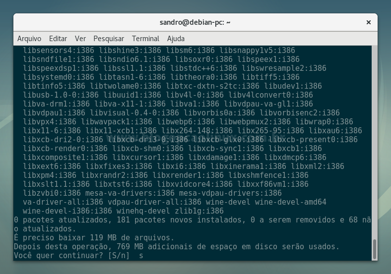 Instalando o Wine Development no Debian 9 'Stretch'