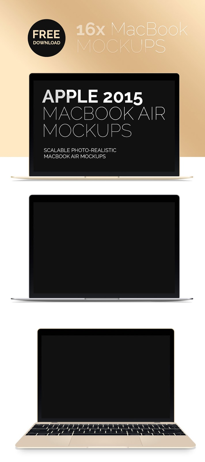 New Macbook Air Mockup PSD