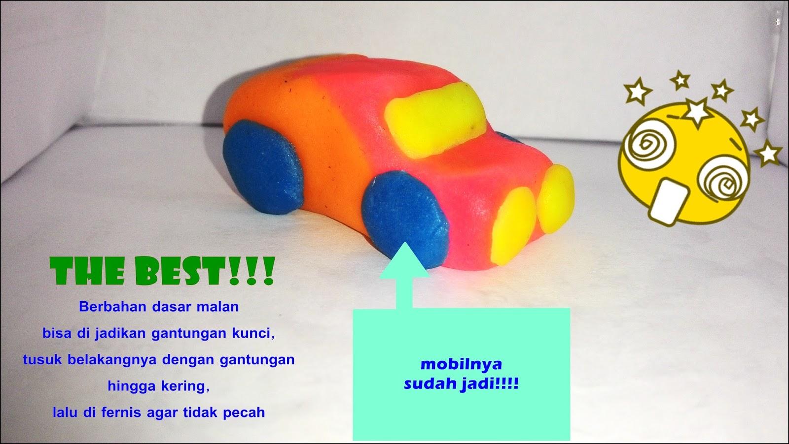 Neli Syamsiyah: membuat Bentuk Mobil dari Malan (Plastisin )