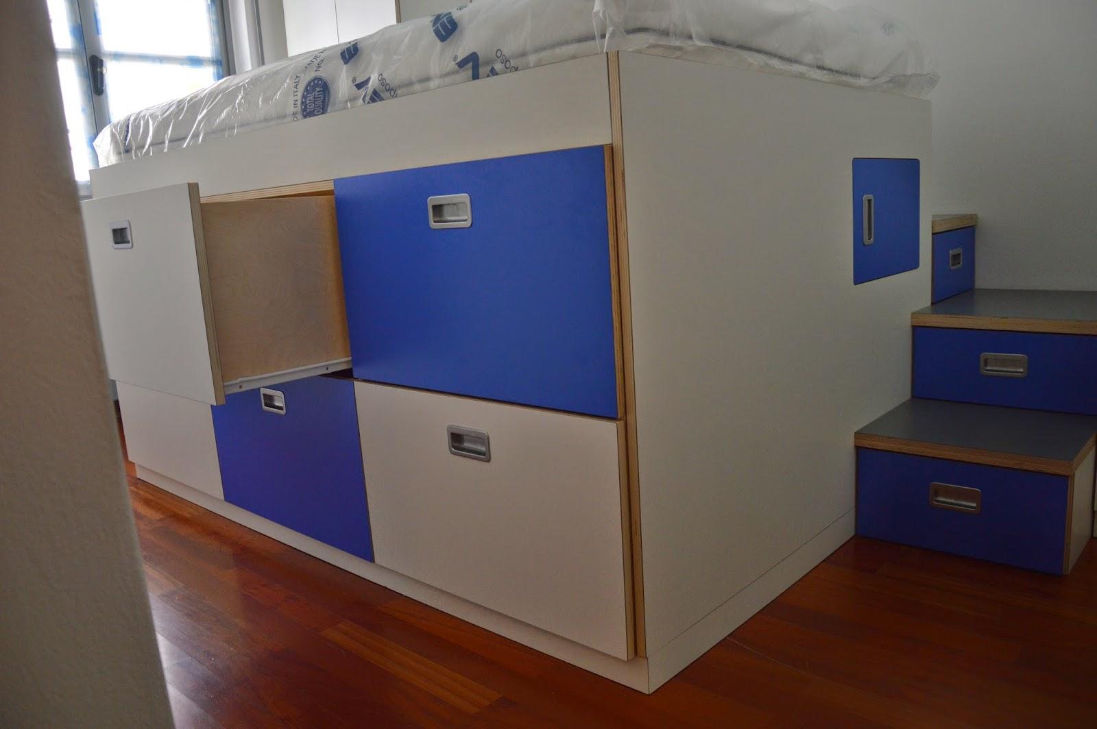 Falegnameria sansi cameretta con letto 1 piazza e mezza for Detrazione fiscale arredamento