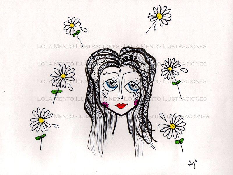 LolaMento dibujos originales, LolaMento, lola mento ilustraciones, lolamento ilustraciones, lola mento cuadros, ilustraciones originales, primavera dibujo