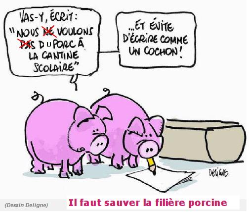 porc dans les cantines