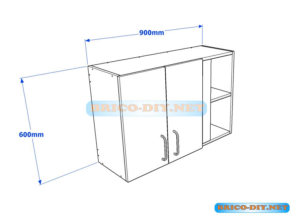 Muebles de cocina plano de alacena de melamina esquinera for Modulos de muebles de cocina medidas
