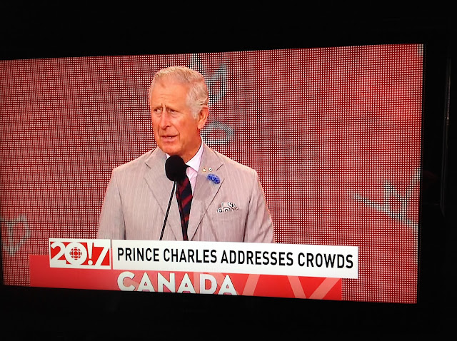 Screenshot CBC coverage Canada 150, Ottawa - Prince Charles loves Canada!
