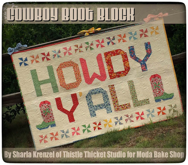 Howdy Y'all Quilt by Thistle Thicket Studio for Moda Bake Shop. www.thistlethicketstudio.com