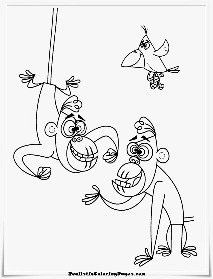 george of the jungle gorilla coloring pages