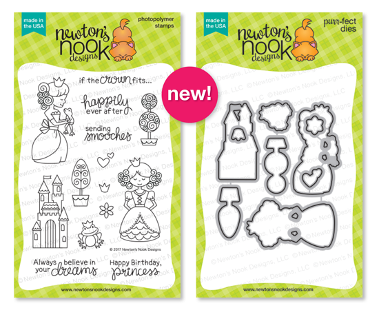 Once Upon a Princess | Photopolymer Stamp set & Die Set by Newton's Nook Designs #newtonsnook